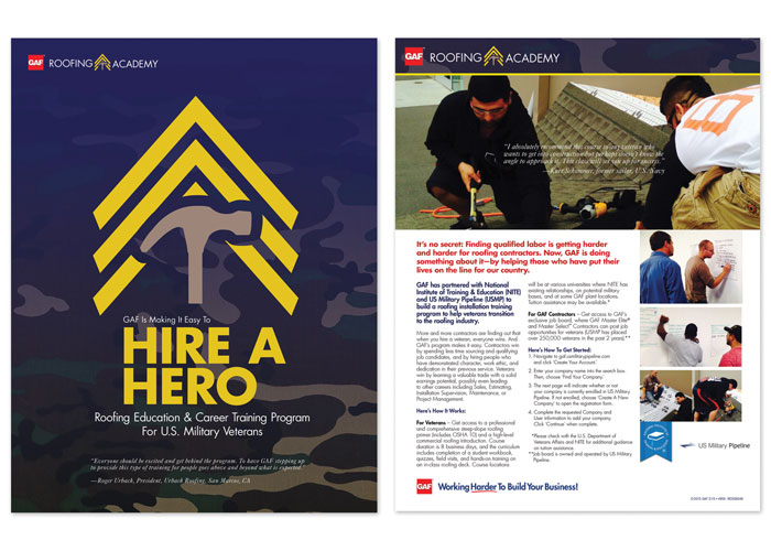 Hire A Hero - Roofing Academy Sell Sheet