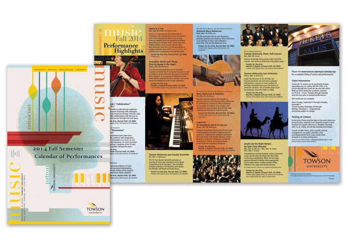 Spring Music Calendar Mailer
