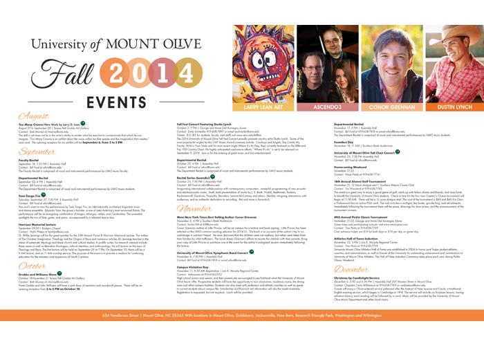 UMO Fall Events 2014