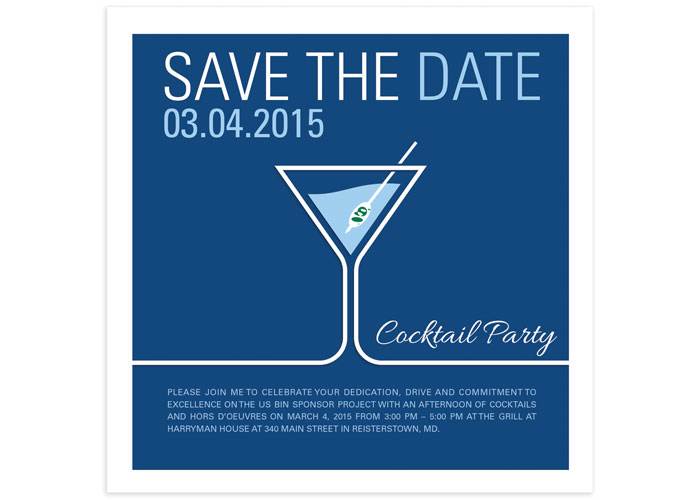 Cocktail Party Save The Date Creative Director: Chris Werger
