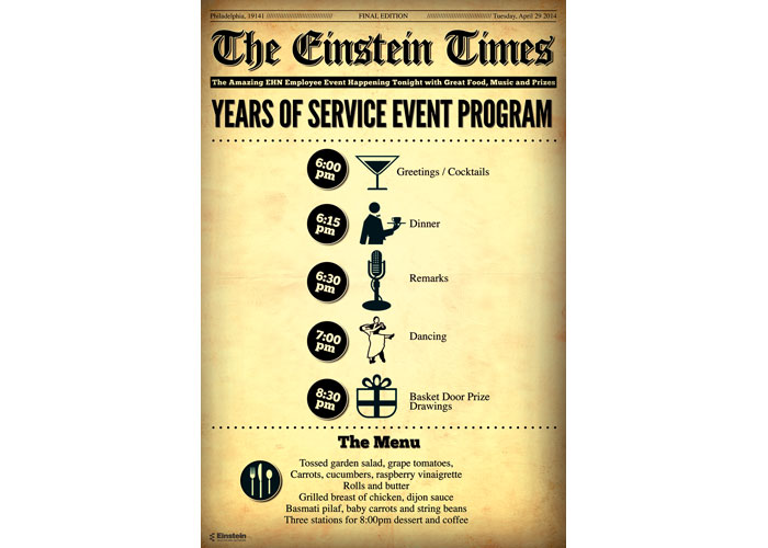Employee Years of Service Event Program