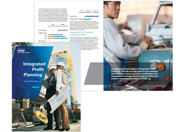 Industrial Manufacturing - Integrated Profit Planning Thought Leadership