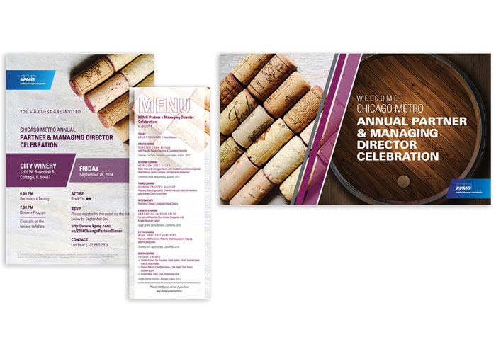 Chicago Partner Dinner Invite and Event Materials