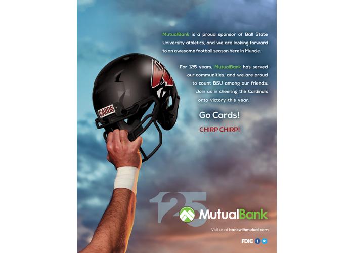 MutualBank Ball State University Football Advertisement