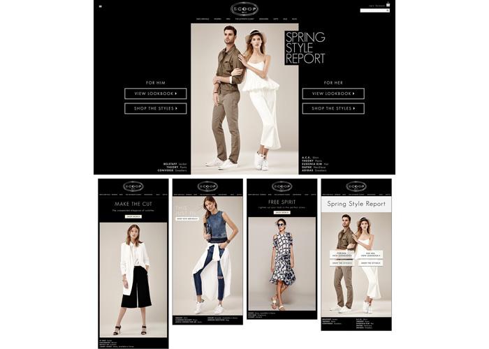 Spring 2015 Website, Emails and Lookbook
