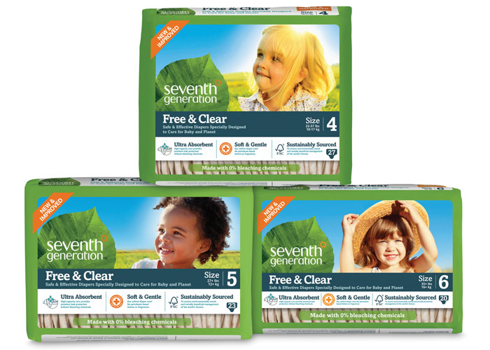 Free & Clear Diaper Packaging Refresh