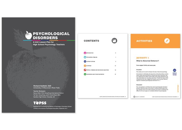 APA Psychological Disorders Unit Lesson Plan