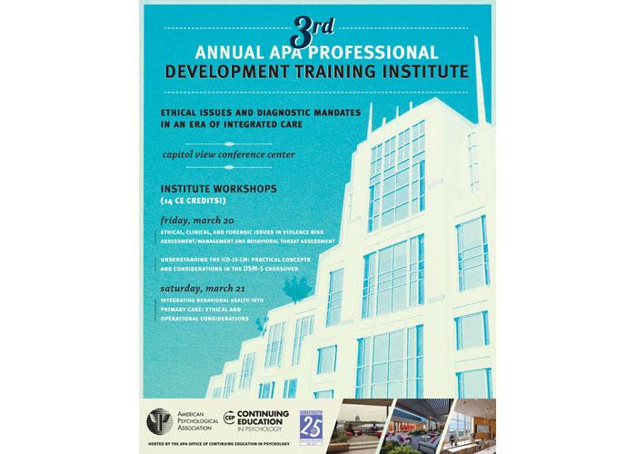 Third Annual APA Professional Development Training Institute Poster