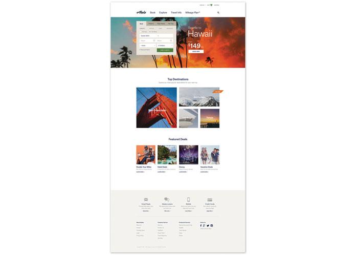 Alaska Airlines E-Commerce Site