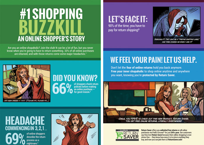 #1 Shopping Buzzkill Infographic