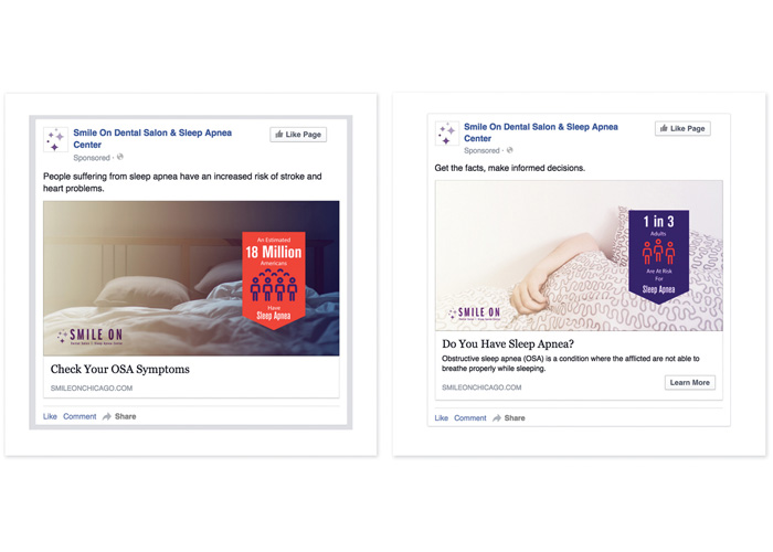 Sleep Apnea Facebook Campaign by Scott Strategic