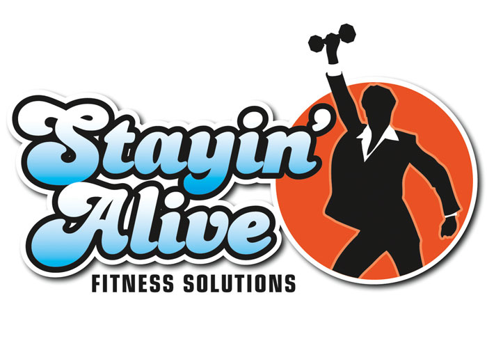 Stayin' Alive Fitness Solutions Logo Design