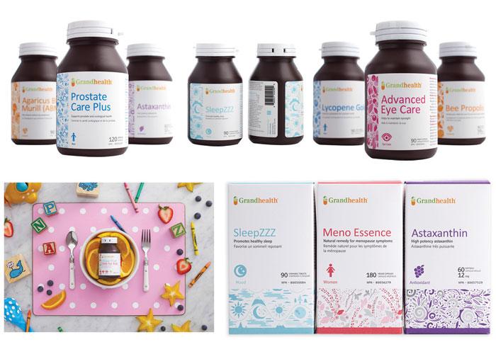 Grand Health Vitamin Rebranding & Packaging Design
