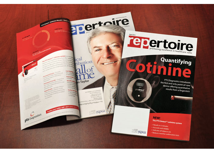 PTS Detect Cotinine Faux Magazine Cover