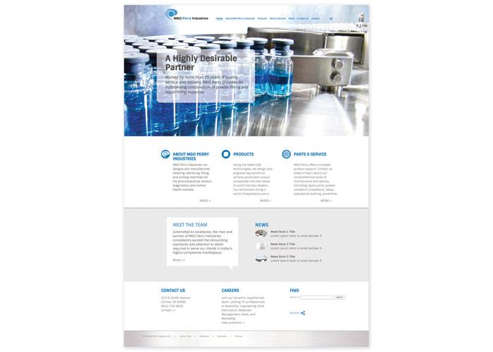 M&O Perry Pharma Machinery Website Design & Build