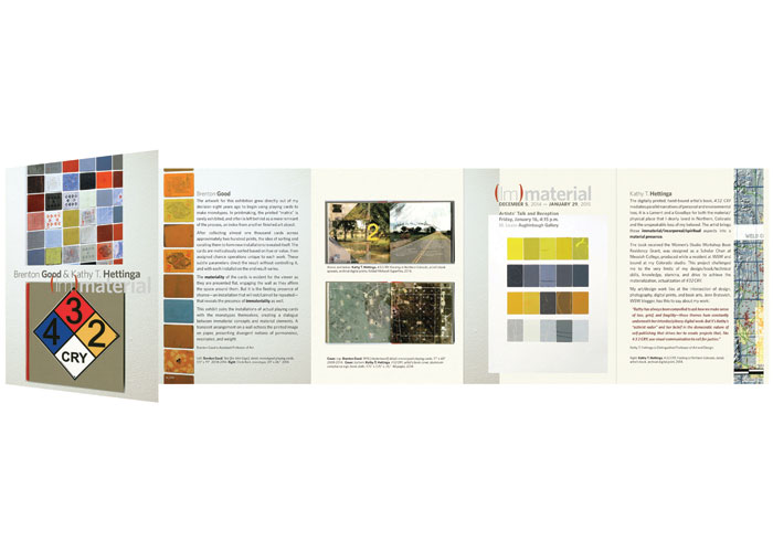 [Im]material, Exhibition Announcement by KT Hettinga Studio