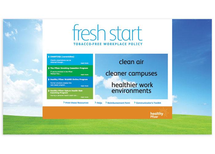 Fresh Start Tobacco-Free Website by Langton Cherubino Group