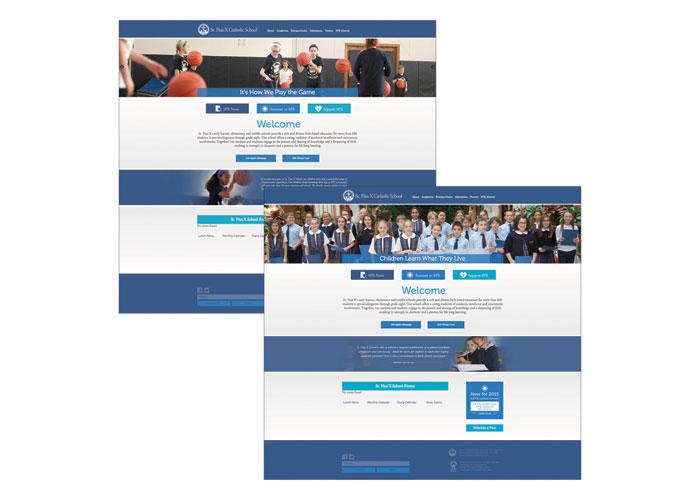 St. Pius X Catholic School Website by Studio136
