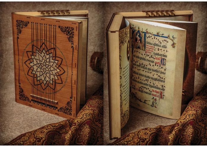 Shakespearean-Inspired Laser-Engraved & Die Cut Book by Moffet Design
