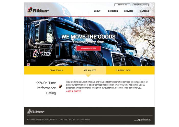 Ritter Website Design by Millennium Marketing Solutions