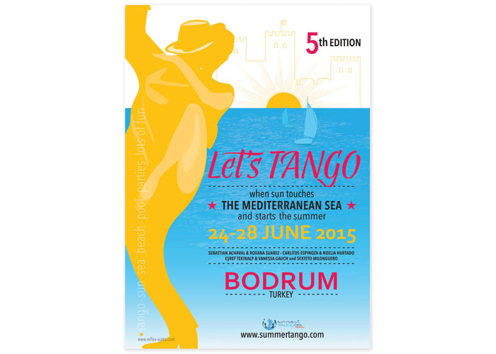 Summer Tango Fest Poster by Reflex Arjans