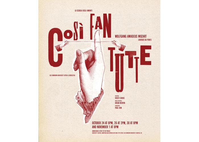 Così Fan Tutte Poster by R-N-R Showprint