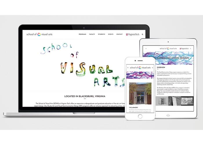 School of Visual Arts Website by Virginia Tech