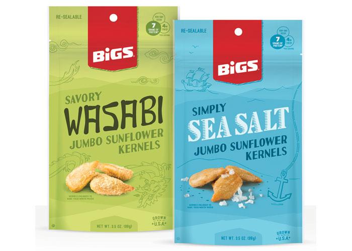 BIGS Jumbo Sunflower Kernels Packaging by Thanasi Foods