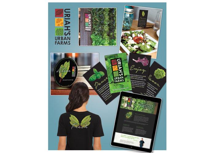 Uriah's Urban Farms Branding Program by Walker Brands