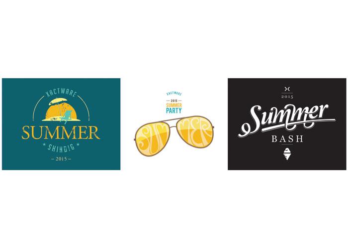 Summer Party Concept Logos by Xactware