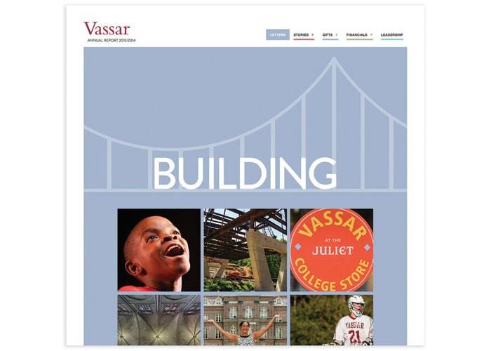 Vassar College 2014 Annual Report Website by Nesnadny + Schwartz