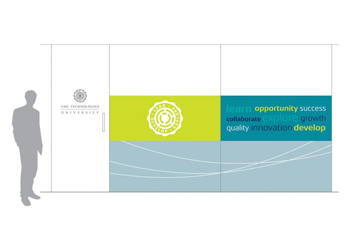 FMC Technologies University Wall Graphics, Dunfermline, Scotland by Stan Gellman Graphic Design