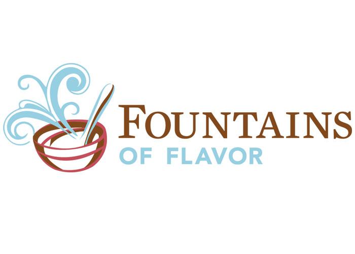 Fountains of Flavor Logo by Stan Gellman Graphic Design