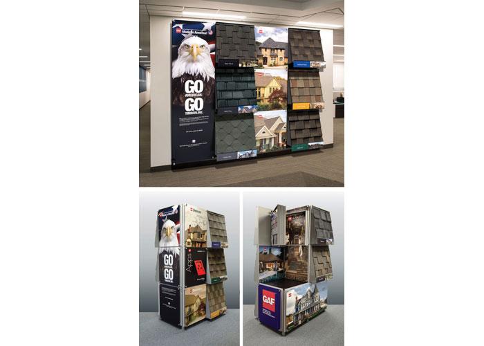 GAF Distributor Center Modular Displays by GAF