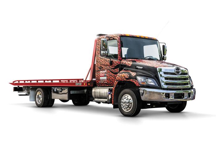 Hino Tow Truck Wrap - Hooks + Flames by Hino Trucks Marketing