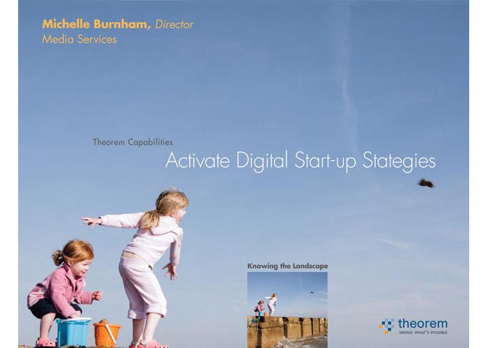Activate Digital Start-up Strategies Presentation Cover by Bonavita Design LLC