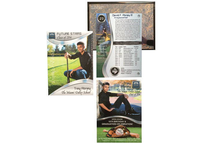 Trey's Baseball Card Grad Announcement/Invitation by Kingdom Keepsakes