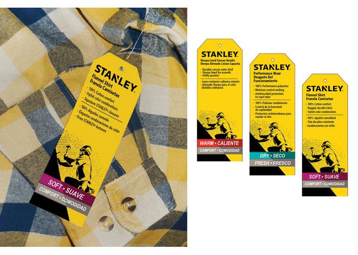 Stanley Workwear Hangtags Packaging by RandyRichardsDesign
