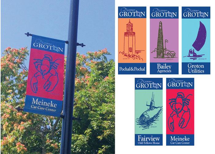 Discover Groton Banner Series by RandyRichardsDesign