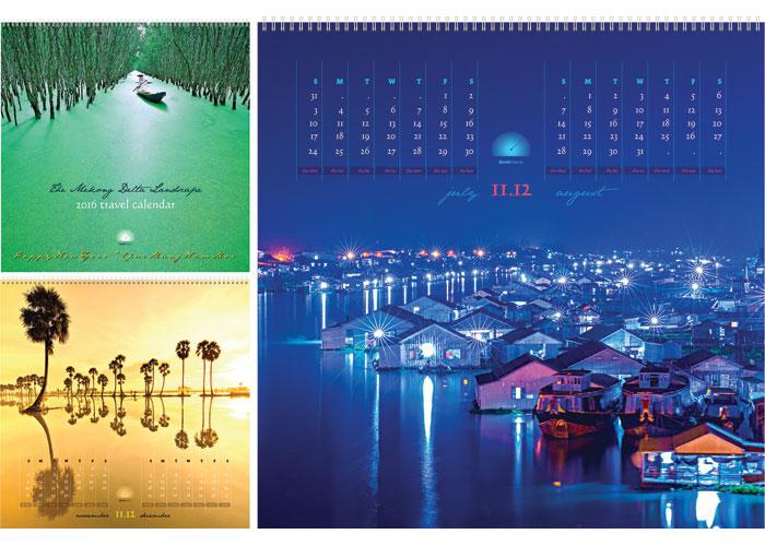 The Mekong Delta Landscape Calendar 2016 by Tridong Design