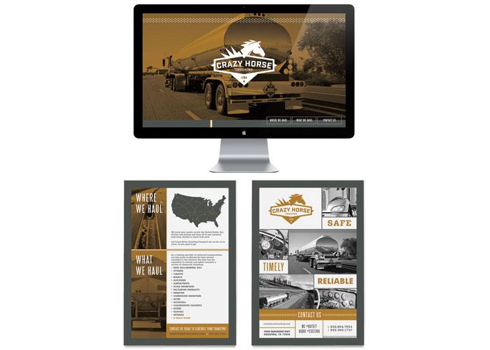 Crazy Horse Trucking Website by Test Monki