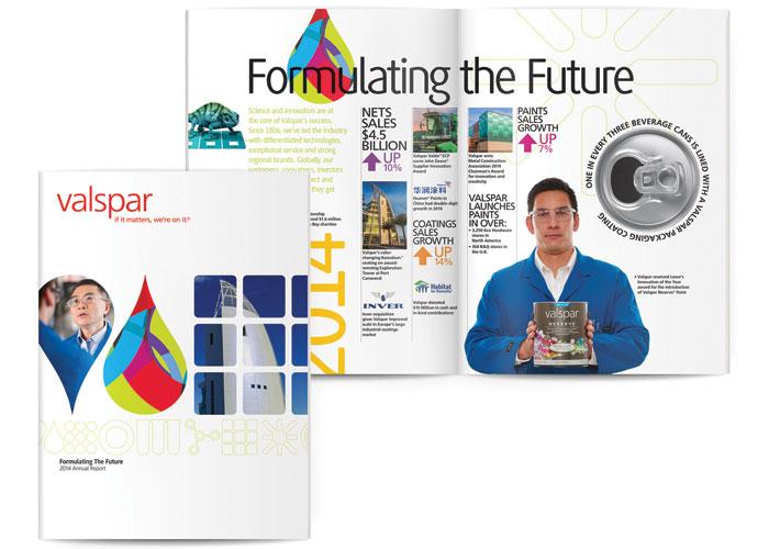 Valspar 2014 Annual Report by Franke+Fiorella