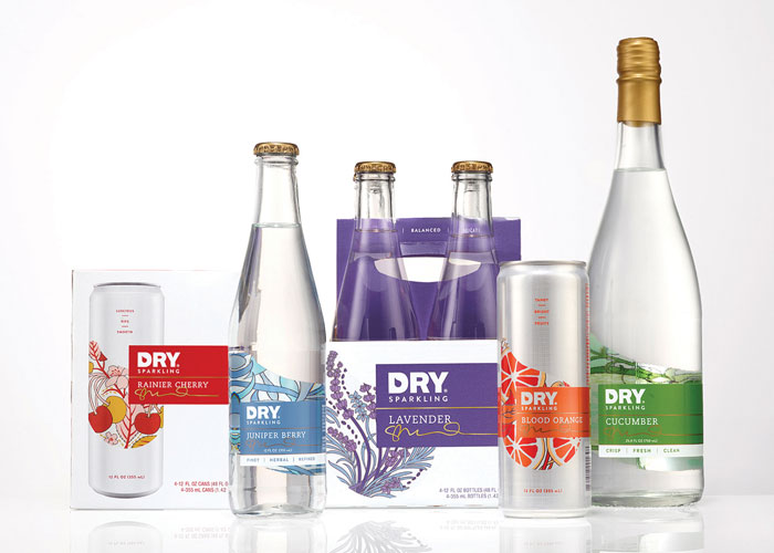 DRY Sparkling Branding & Packaging by Retail Voodoo