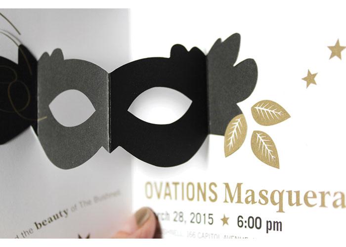 Ovations Masquerade Invitation by Firebrick Design