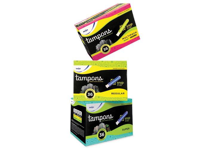 Meijer's FemCare Packaging by Brandimage