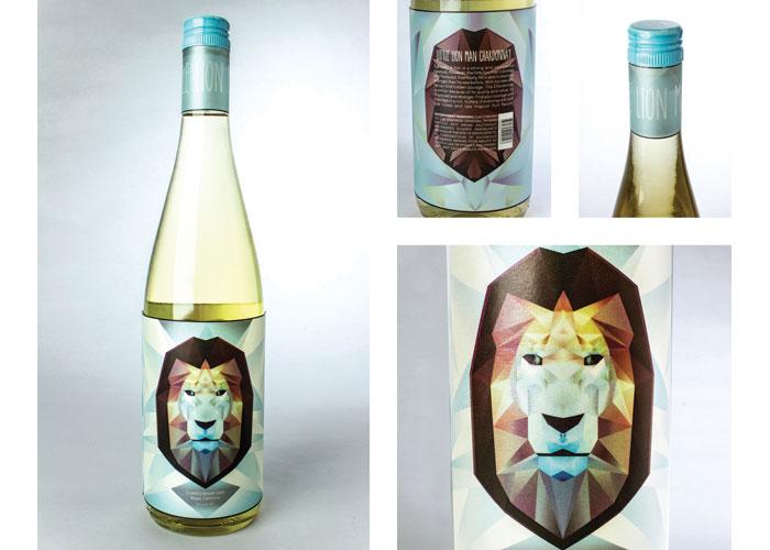 Little Lion Man Wine Label by School of Advertising Art