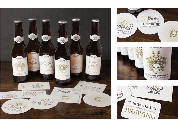 Eudora Brewing Company Branding by School of Advertising Art