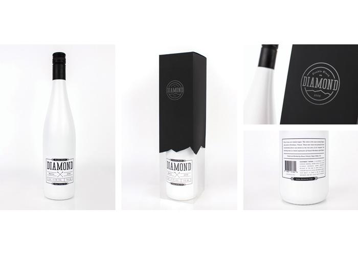 Double Black Diamond Wine Label by School of Advertising Art