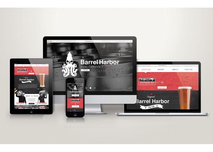 Barrel Harbor Website by School of Advertising Art