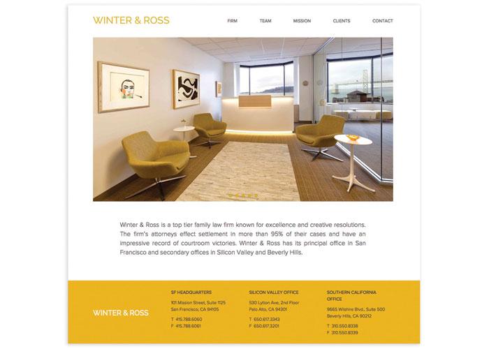 Winter & Ross Website Design by Afstudio Design